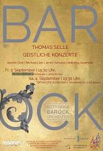 Konzertplakat Göttinger Barockorchester 2021